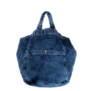 RRP €125 HONEY FU**ING DIJON Denim Tote Bag Large Faded Slouchy Made in Italy