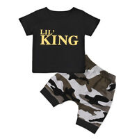 2Pcs Toddler Kids Baby Boys Casual T-shirt Tops Pants Shorts Outfits Set Clothes