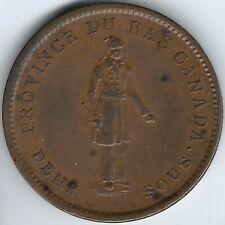 LOWER CANADA City Bank 1837 Penny Token Breton 521 LC-9A3 Inv 2779