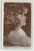 Vintage FANNIE WARDE Silent Actress Embossed photograph postcard 1920 Colourised