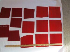 Stained Glass Wissmach Reds 14 Pieces