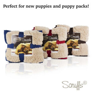 Scruffs Dog Snuggle Blanket Reversible Soft Plush Cold Day Faux Suede Warmer Day