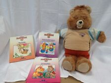 042- Vintage Teddy Ruxpin With 3 Books (No Tapes) Untested