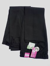 2 X Girls Black Crease Resistant Teflon Easy Iron Adj Waist School Trousers 9 yr