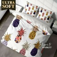 Pineapples Tropical Floral Patterns  Duvet Cover Single Bed Double Queen King