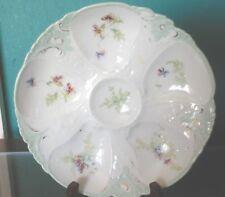 Antique Merkelsgrun Austria  Oyster Plate Floral 1900-18