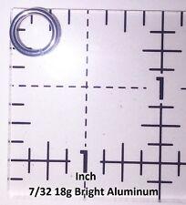 BLACK Anodized Aluminum JUMP RINGS 250 7/32 18g SAW CUT Chainmail chain mail