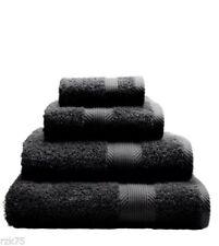Juego de toallas de baño y albornoces color principal negro 100% algodón