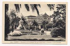 cannes  monument à S.M.  E douard VII et casino municipal