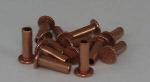 100 Nieten Niete 3x8mm Kupfer DIN 7338B für Bremsbelag Bremsbeläge