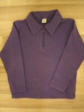 Adams. Girls purple thick cotton top with zip neck & collar. 6yrs. 115cms.