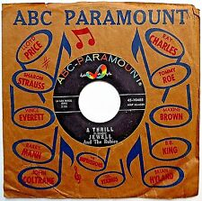JEWELL & THE RUBIES Deep Soul 1963 ABC PARAMOUNT 45 A Thrill b/w Kidnapper w6599