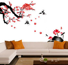 6900   Wall Stickers Living Room Blossoms and Sunset