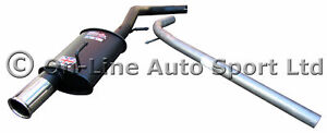 VW Lupo 1.0 & 1.4 Sportex Exhaust plus Race Tube System - Single 3""