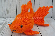 "Handmade Amigurumi Crochet Goldfish 10"" plush doll/toy/stuffed animal - Orange"