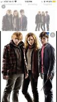Harry Hermione & Ron Harry Potter 7 Cardboard Cutout Party Decoration Movies NEW