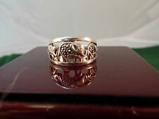 Sterling Silver Elephant w/ Marcasites Band Ring Size 9