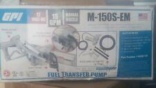 Gpi M 150s Em 12 Volt Fuel Transfer Pump 15 Gpm Manual Nozzle Hose 12v