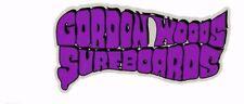 GORDON WOODS SURFBOARDS 1960s Surfboard Manufacturer NSW Sticker Decal Surfing