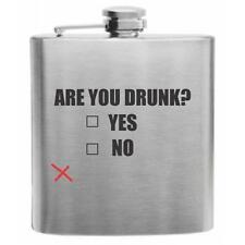 Are You Drunk? Stainless Steel Hip Flask 6oz