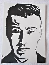 A4 Art Marker Pen Sketch Drawing Sam Smith Musician Singer Poster
