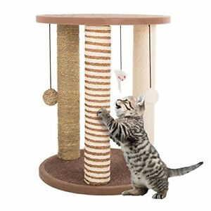 Cat Scratching Posts- Adult Cat and Kitten Tree 3 Large Scratching Poles Carp...