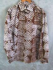 Men's Long Sleeve Tile Stamp Batik Shirt Size XL NWOT