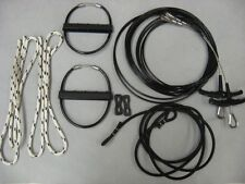 HOBIE CAT 16 Trapeze Wires Kit Pair (2) New with Handles Shock cord rope locks