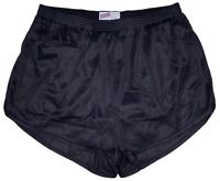 Black Nylon Ranger Panties Silkies Running Track Shorts by Soffe Men's Large