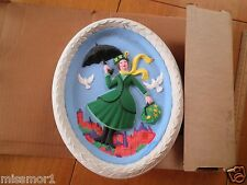 1960's Mary Poppins ceramic Bisque licensed in Box painted TOUGH!