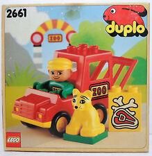 LEGO 1991 DUPLO ZOO VAN BRICK SET # 2661 MISP VERY NICE EUROPEAN NEW