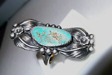 Vintage Navajo SS &Turquoise Ring by Verdy Jake, size 6