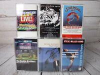 Vintage Cassette Tape x6 STEVE MILLER BAND Hits DOOBIE BROTHERS MICHAEL McDONALD