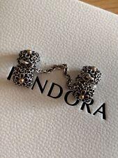 Genuine Pandora Gold/Silver Bouquet Safety Chain