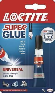 LOCTITE Super Glue Métal Bond Adhésif Instantané 3g Eau Résistant