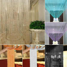 Glitter String Door Curtain Fly Screen Room Divider Window Panel Tassel Beads