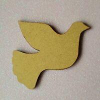 Laserschnitt Holz MDF Vogel Taube Form - Craft, Rustikal, Weihnachten