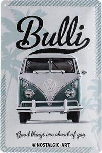 VW Volkswagen Bulli Bus Thinks Blechschild Schild 3D Tin Sign 20 x 30 cm 22213