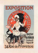 l'Exposition de Tableaux et Dessins by Jules Cheret 90cm x 64cm Art Paper Print