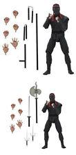 "NECA 7"" Scale TMNT MOVIE Foot Soldier PAIR Action Figure (Teenage Mutant Ninja"