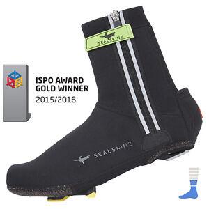 Waterproof Neoprene Cycling Shoe Covers - Halo in black by Sealskinz