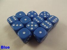 Opaque Dice Dotted 12 x 12mm D6 Blue Board Game Monopoly Yahtzee Perudo Fantasy