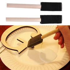 6pcs Craft Sponge Foam Brush Paint Glass Glue Glitter Application Wooden Handle