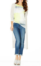 Stunning Ladies Light Weight Long Open Front Stone Colour Cardigan Size 16-18