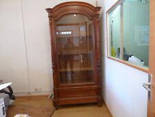 armoire vitrine en bois massif ancien 1 porte verre biseautés