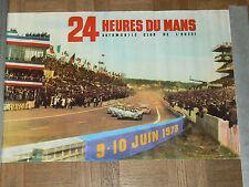 Affiche  Ancienne 24 HEURES DU MANS 1973  poster  sport auto car  poster