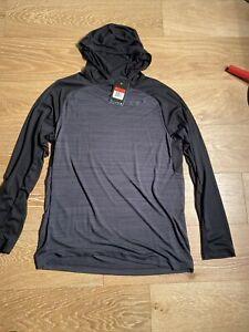 Nike Dri-Fit Pullover Lightweight Training Hoodie 696063-014 BLK/CHR $45