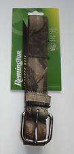 "Realtree AP Camo Belt 32"" - 42"" Adjustable Remington Camouflage Leather Backing"