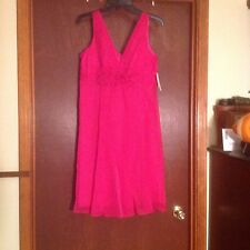 Cute Short Frilly Bright Pink Formal Dress - Size 8 ..Hot Pink