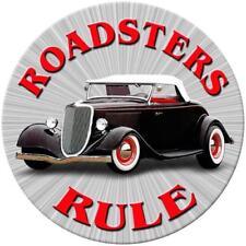"Roadsters Rule 14"" Round Metal Sign"